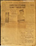 Titanic Sinks! Original Antique Bangor Newspaper April 17, 1912