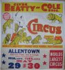 Circus Poster Clyde Beatty – Cole Brothers, circa 1950