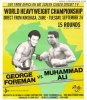 "Muhammad Ali George Foreman LARGE ""Rumble in Jungle"" poster"