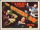 Invisible Ray Title Card Horror Movie Poster Karloff Lugosi