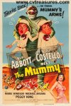 Abbott & Costello Meet the Mummy vintage movie poster one sheet