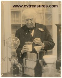 Thomas Edison Historic Photo early 1900s In His Lab !