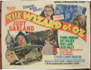 Wizard of OZ Vintage Movie Poster Half Sheet RARE! 1949