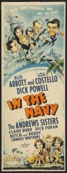 Abbott & Costello In The Navy -Insert movie poster - 1941