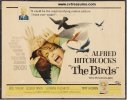 Alfred Hitchcock's The Birds movie poster half sheet, Rare '61