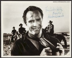 Marlon Brando Vintage Authentic Signed Autographed Photo One Eye