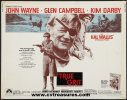 John Wayne True Grit Half Sheet Movie Poster, 1969