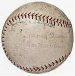 Providence Grays Autographed Signed Baseball 1928 Babe Ruth 1st