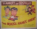 Abbott & Costello The Noose Hangs High - original half sheet