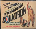 International Squadron Vintage Title Card Ronald Reagan 1941