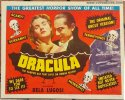 Dracula Title Card vintage horror movie poster Bela Lugosi RARE!