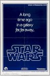 Star Wars Autographed ADVANCE Teaser Movie Poster one sheet 1977