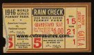 Boston Red Sox 1946 World Series Ticket Stub Game 5 Fenway