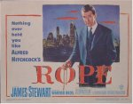 Alfred Hitchcock's Rope Movie Poster Title Card, James Stewart