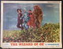 Wizard of Oz lobby card Dorothy Judy Garland Poppies 1955