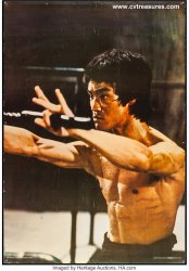 Bruce Lee in Enter the Dragon Original Vintage Personality Poste