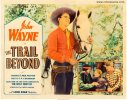 Trail Beyond Vintage Western Movie Poster Half Sheet John Wayne