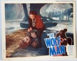 Wolf Man Original Vintage Horror Lobby Card Lon Chaney Maria Op