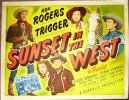 Sunset in the West, 1950, Roy Rogers, Title Card