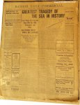 Titanic Sinks! Original Antique Bangor Newspaper April 14, 1912
