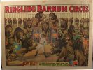 Circus Poster Ringling Brothers and Barnum 1930's