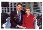 President Ronald Reagan Signed photo with Nancy - Happy Times