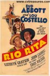 Rio Rita Abbott Costello Original Vintage Movie poster 1942