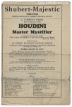 Harry Houdini ORIGINAL Vintage 1925 Performance Program 1925 b