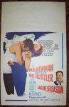 Hustler, 1961 Paul Newman and Jackie Gleason Window Card
