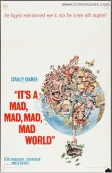 It's a Mad, Mad, Mad, Mad World Vintage One Sheet Movie Poster