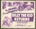 Billy the Kid Returns Western Movie Poster,Roy Rogers Title Card