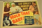 Bowery Boys Vintage Movie Poster Hold that Baby 1949