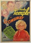 Stowaway Original Vintage Movie Poster Shirley Temple 1936