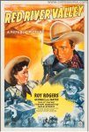 Red River Valley Vintage Western Movie Poster One sht Roy Rogers