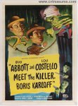 Abbott & Costello Meet the Killer RARE One Sheet Movie Poster