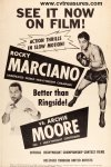 Rocky Marciano vs. Archie Moore Original Vintage Fight Poster