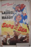 "Laurel & Hardy ""Saps at Sea"" vintage movie poster one sheet"