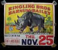 Ringling Bros Barnum and Bailey Circus Poster Hippo 1943