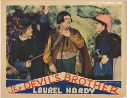 Laurel & Hardy DEVIL'S BROTHER Vintage Lobby Card Movie Poster