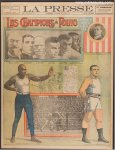 Jack Johnson Jim Jeffries RARE Boxing Pre-Fight French Newspaper