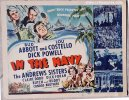 In the Navy Vintage Title Card Movie Poster Abbott Costello