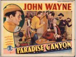 Paradise Canyon Original Vintage Western Movie Poster John Wayne