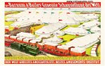Vintage Barnum and Bailey Circus Poster Trains Tents 1899