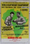 MUHAMMAD ALI FOREMAN RARE FIGHT BOXING POSTER 1974 Richmond