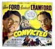 Convicted, 1950, Glenn Ford, Broderick Crawford, Six Sheet