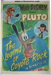 Disney's Legend of Coyote Rock PLUTO Vintage Movie Poster 1945