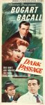 Dark Passage Vintage Movie Poster Insert Humphrey Bogart Bacall