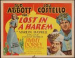 Abbott & Costello Lost in a Harem, 1944 , Original Title Card