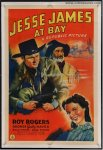 JESSE JAMES AT BAY Vintage Western Movie Poster Roy Rogers
