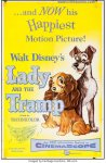 Disney's Lady and the Tramp Vintage movie poster one sheet 1955